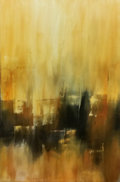 Fine Art - Painting, American:Contemporary   (1950 to present)  , Andy Morris. City on Fire. Acrylic on canvas. 24 x 36 inches(61.0 x 91.4 cm). ...