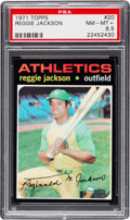 Baseball Cards:Singles (1970-Now), 1971 Topps Reggie Jackson #20 PSA NM-MT+ 8.5....