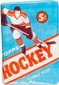 Hockey Cards:Unopened Packs/Display Boxes, 1954 Topps Hockey 5-Cent Unopened Wax Pack. ...