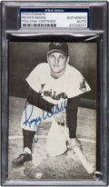 Baseball Collectibles:Others, 1957-58 Roger Maris Signed Postcard. ...