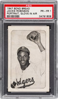Baseball Cards:Singles (1940-1949), 1947 Bond Bread Jackie Robinson/Portrait, Glove In Air PSA Poor 1 - Pop One, Five Higher. ...