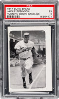 Baseball Cards:Singles (1940-1949), 1947 Bond Bread Jackie Robinson/Running Down Baseline PSA EX 5 -Pop Three, Two Higher. ...
