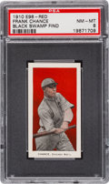 "Baseball Cards:Singles (Pre-1930), 1910 E98 ""Set of 30"" Frank Chance - Red ""Black Swamp Find"" PSANM-MT 8...."