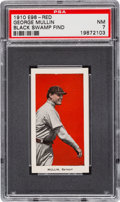 "Baseball Cards:Singles (Pre-1930), 1910 E98 ""Set of 30"" George Mullin - Red ""Black Swamp Find"" PSA NM7...."