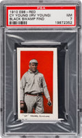 "Baseball Cards:Singles (Pre-1930), 1910 E98 ""Set of 30"" Cy Young - Red ""Black Swamp Find"" PSA NM 7...."