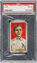 Baseball Cards:Singles (Pre-1930), 1911 T208 Cullivan's Fireside Lapp PSA Good 2 - The Only PSAExample! ...