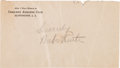 Baseball Collectibles:Others, 1930's Babe Ruth Signed Envelope....