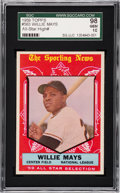 Baseball Cards:Singles (1950-1959), 1959 Topps Willie Mays #563 SGC 98 Gem 10 - Pop One! ...
