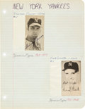 Baseball Collectibles:Others, 1970's Thurman Munson Signed Paper Sheet. ...