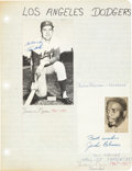 Baseball Collectibles:Others, 1960's Jackie Robinson Signed Album Page....