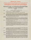 Baseball Collectibles:Others, 1946 Joe Garagiola St. Louis Cardinals Uniform Player's RookieContract....