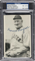 "Baseball Collectibles:Others, Signed 1936 R313 National Chicle ""Fine Pen"" Premium Honus Wagner, PSA/DNA NM-MT 8...."