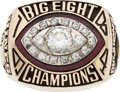 Football Collectibles:Others, 1984 Oklahoma University Big Eight Championship Football 10K Gold Ring....