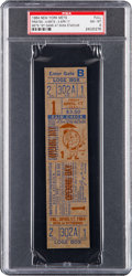 Baseball Collectibles:Tickets, 1964 New York Mets Opening Day Full Ticket, PSA NM 8 OnlyGraded....