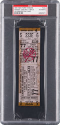 Baseball Collectibles:Tickets, 1951 Joe DiMaggio Final Game Full Ticket....