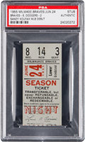 Baseball Collectibles:Tickets, 1955 Sandy Koufax Rookie Debut Ticket Stub....
