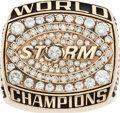 Football Collectibles:Others, 2003 Tampa Bay Storm Arena Football League Championship Ring....