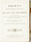 Books:Religion & Theology, Rev. John Brown. Brown's Self-Interpreting Family Bible: Containing the Old and New Testaments... Adam & Co., [n...