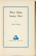 Books:Fiction, Budd Schulberg. INSCRIBED. What Makes Sammy Run? New York:Random House, [1941]. First Printing. Inscribed by the ...