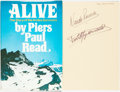 Books:Biography & Memoir, Piers Paul Read. Alive: The Story of the Andes Survivors. Philadelphia: J. B. Lippincott Company, [1974]. First Edit...
