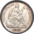 Seated Half Dimes, 1863 H10C MS68 PCGS. CAC....