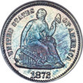 Seated Half Dimes, 1872 H10C MS67 NGC. CAC. V-4....