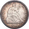 Seated Half Dimes, 1872 H10C Doubled Die Obverse, FS-101, MS64 PCGS. CAC....
