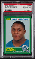 Football Cards:Singles (1970-Now), 1989 Score Barry Sanders #257 PSA Gem Mint 10....