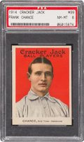 Baseball Cards:Singles (Pre-1930), 1914 Cracker Jack Frank Chance #99 PSA NM-MT 8....