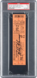 """Baseball Collectibles:Tickets, 1951 Bobby Thomson Signed """"Shot Heard 'Round the World"""" Full ProofTicket...."""