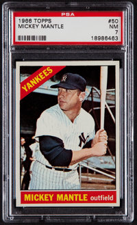 1966 Topps Mickey Mantle #50 PSA NM 7