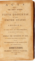 Books:Americana & American History, [Americana]. Acts Passed at the First Session of the FifthCongress of the United States of America: Begun and Held att...
