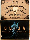 "Miscellaneous:Gaming Collectibles, [Board Games]. ""Ouija; the Mystifying Oracle, Wonderful TalkingBoard"". Baltimore: William Fuld, [n.d., circa 1940]. ..."
