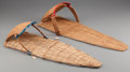 American Indian Art:Baskets, TWO PAIUTE WICKER BABY CARRIERS... (Total: 2 Items)