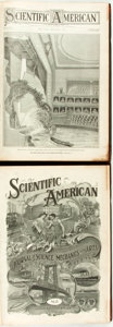 Books:Periodicals, [Periodicals/Science.] Bound Issues of Scientific American.New York: [Munn & Co., January to December 1909]. Tw... (Total:2 Items)