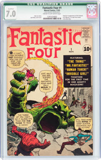 Fantastic Four #1 (Marvel, 1961) CGC Qualified FN/VF 7.0 Cream to off-white pages
