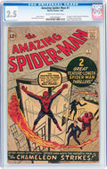 Silver Age (1956-1969):Superhero, The Amazing Spider-Man #1 (Marvel, 1963) CGC GD+ 2.5 Cream tooff-white pages....