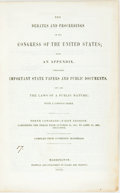 Books:Americana & American History, [Aaron Burr]. The Debates and Proceedings in the Congress of the United States; with an Appendix, Containing Important S...