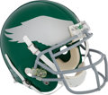 Football Collectibles:Helmets, 2010 Jeremy Maclin Game Worn Philadelphia Eagles Throwback Helmet - MeiGray/Photomatched....