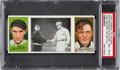Baseball Cards:Singles (Pre-1930), 1912 T202 Hassan Just Before The Battle Fletcher/MathewsonPSA NM-MT 8 - Pop Two, None Higher! ...