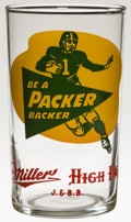 """Football Collectibles:Others, Late 1950's Green Bay Packers Miller High Life """"Chaser"""" Glass. ..."""