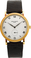 Timepieces:Wristwatch, Patek Philippe Ref. 3919 Gent's Gold Wristwatch, circa 1988. ...