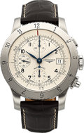 "Timepieces:Wristwatch, Longines L 2.741.4 Unused Steel Automatic ""Weems"" Chronograph, circa 2014. ..."