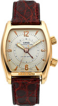 Timepieces:Wristwatch, Oris Limited Edition 1996 Rose Gold Alarm Watch, No. 173/250. ...