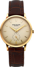 Timepieces:Wristwatch, Patek Philippe Ref. 3893 Very Fine 18k Gold Wristwatch, circa 1980....