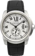 Timepieces:Wristwatch, Cartier Calibre Ref. 3299 Automatic Steel. ...