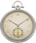 Timepieces:Pocket (post 1900), Omega Very Fine Platinum Pocket Watch, circa 1929. ...