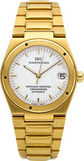 "Timepieces:Wristwatch, IWC Ref. 9239 Gold ""Ingenieur"" Automatic Officially Certified Chronometer. ..."