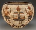 American Indian Art:Baskets, A HOPI PICTORIAL COILED BASKET. c. 1960...