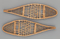 American Indian Art:Pipes, Tools, and Weapons, A PAIR OF CREE MINIATURE WOOD AND HIDE SNOW SHOES... (Total: 2Items)